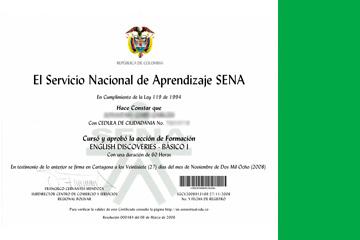 Descargar certificado SENA de inglés